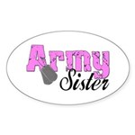 Army Sister Oval Sticker