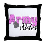 Army Sister  Throw Pillow