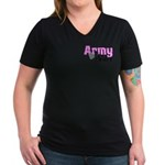 Army Sister Women's V-Neck Dark T-Shirt
