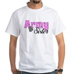 Army Sister White T-Shirt