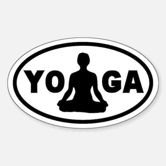 Yoga Lotus Oval Decal
