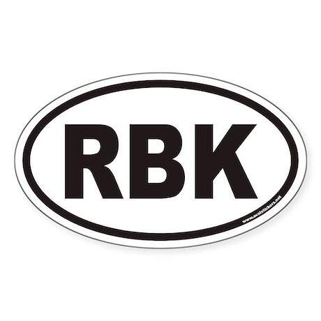 RBK Euro Oval Sticker