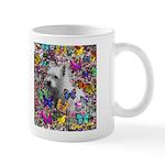 Violet White Westie Butterflies Mug