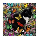Freckles in Butterflies I Tile Coaster
