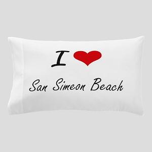 I love San Simeon Beach California ar Pillow Case