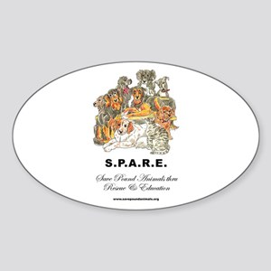 SPARE Oval Sticker