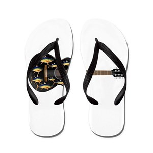 68765edf770b87 Yellowfin Tuna Flip Flops - CafePress