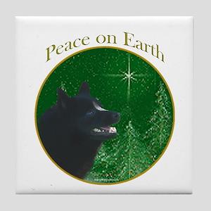 Schipperke Peace Tile Coaster