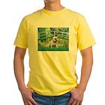 Bridge / English Bulldog (#9) Yellow T-Shirt