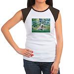 Bridge / English Bulldog (#9) Women's Cap Sleeve T