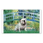 Bridge / English Bulldog (#9) Sticker (Rectangle)