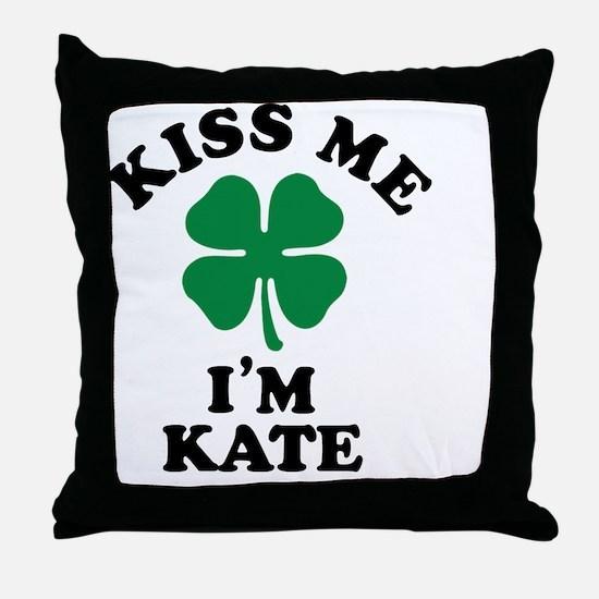 Unique Kiss me Throw Pillow