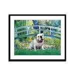 Bridge / English Bulldog (#9) Framed Panel Print