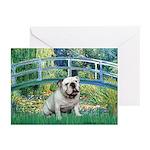Bridge / English Bulldog (#9) Greeting Cards (Pk o