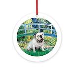 Bridge / English Bulldog (#9) Ornament (Round)