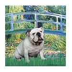 Bridge / English Bulldog (#9) Tile Coaster