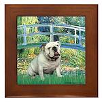 Bridge / English Bulldog (#9) Framed Tile