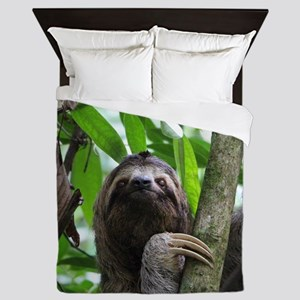 Sloth_20171101_by_JAMFoto Queen Duvet