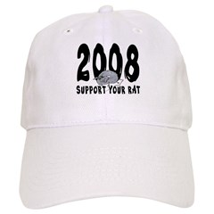 Support Your Rat 2008 Baseball Cap
