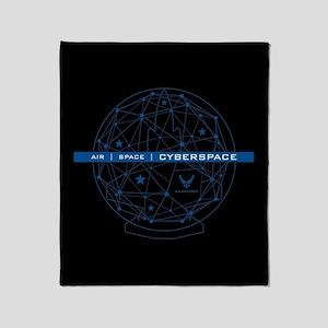 USAF Air Space Cyberspace Throw Blanket