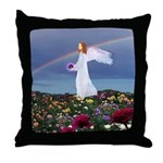 February Angel : Throw Pillow