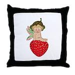 Strawberry Fairy : Throw Pillow