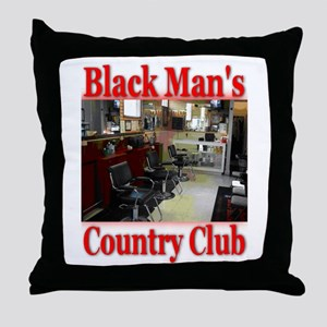 Black Man Country Club Throw Pillow