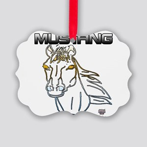 mustang horse Picture Ornament