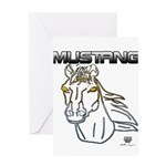 mustang horse Greeting Cards