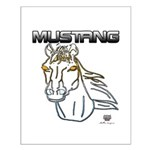 mustang horse Small Poster