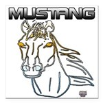 mustang horse Square Car Magnet 3