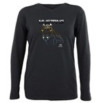 mustang horse Plus Size Long Sleeve Tee