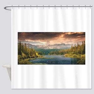 scenic lake of wonder Shower Curtain