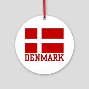 Flag of Denmark Ornament (Round)