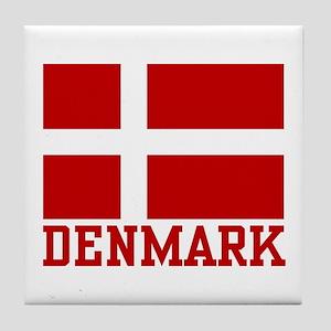 Flag of Denmark Tile Coaster
