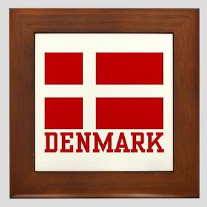 Flag of Denmark Framed Tile