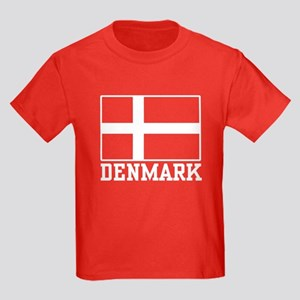 Flag of Denmark Kids Dark T-Shirt