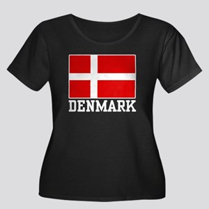 Flag of Denmark Women's Plus Size Scoop Neck Dark