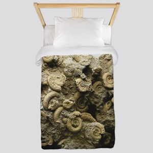 cluster of fossil shells Twin Duvet Cover
