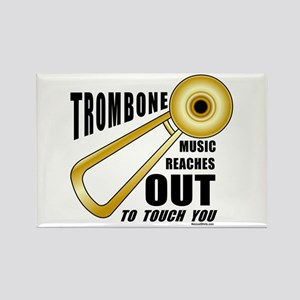 Trombone Touch Rectangle Magnet