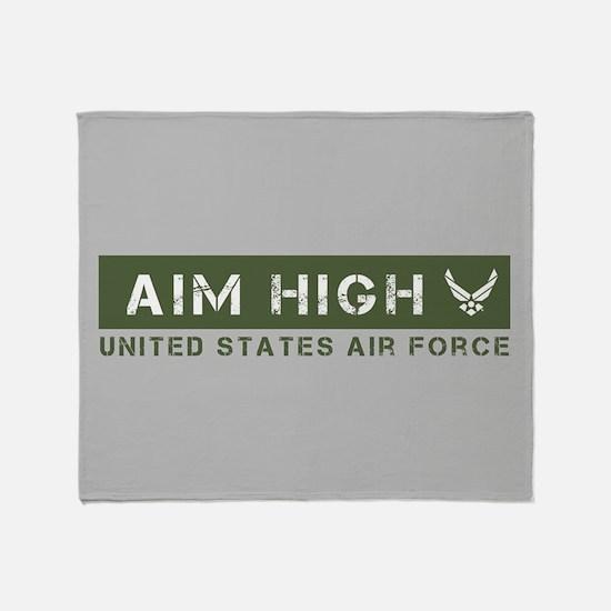 Aim HIgh Air Force Green Throw Blanket