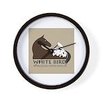 White Bird Appaloosa Horse Re Wall Clock