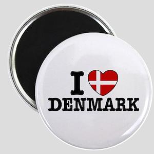 I Love Denmark Magnet