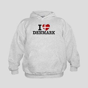 I Love Denmark Kids Hoodie