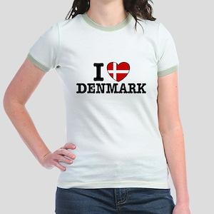 I Love Denmark Jr. Ringer T-Shirt