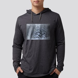 Majestic White Pines in Winter Long Sleeve T-Shirt