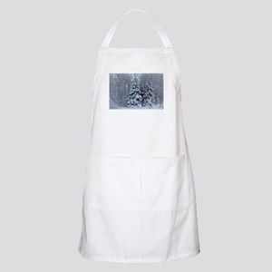 Majestic White Pines in Winter Light Apron