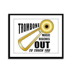 Trombone Touch Framed Panel Print