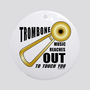Trombone Touch Ornament (Round)