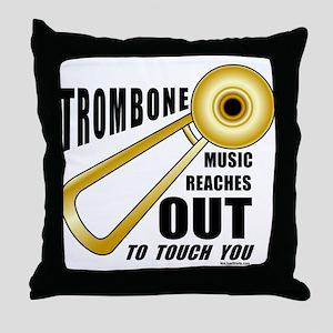 Trombone Touch Throw Pillow